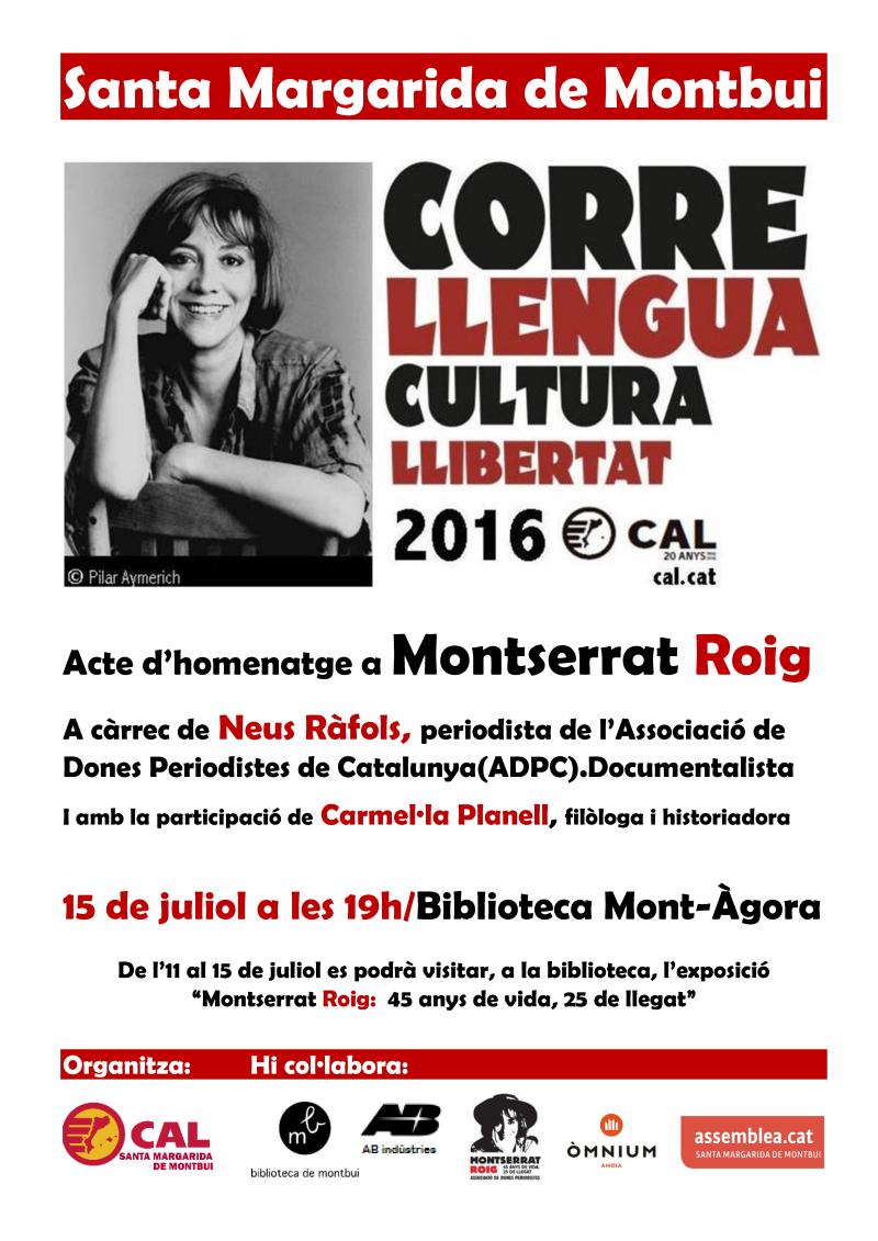 Cartell Montserrat Roig Sta Margarida Montbui