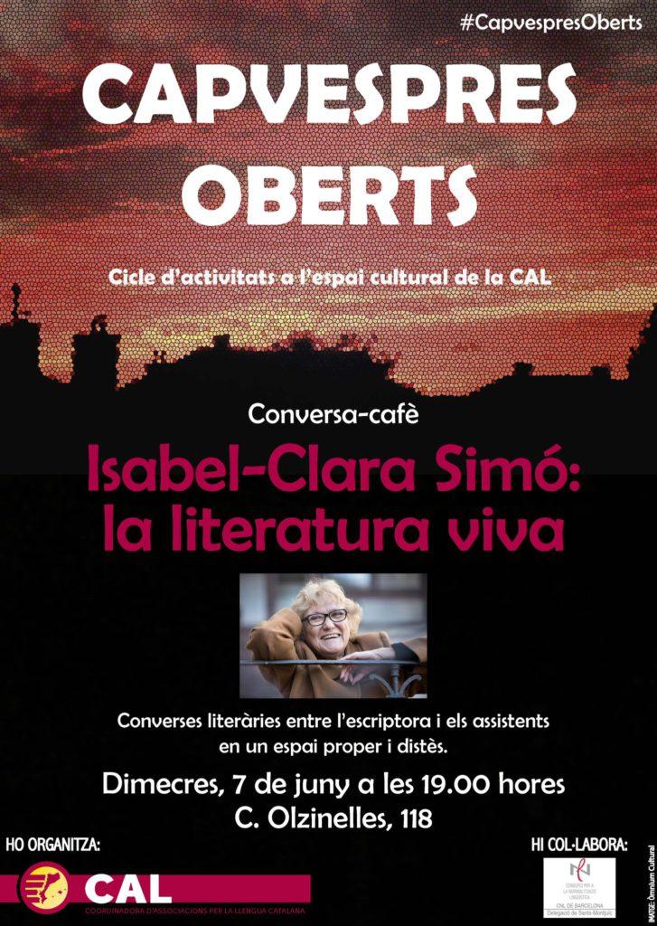 Isabel-Clara Simó Capvespres Oberts