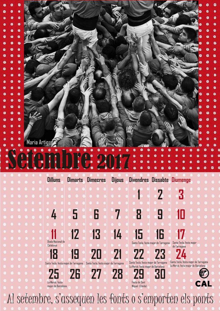 Calendari 2017 - setembre
