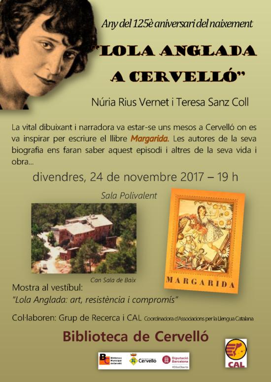 cartell Lola Anglada a CVLL