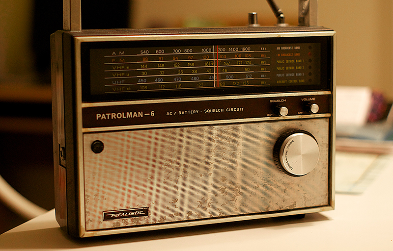 Found the old radio at Mom's house- this went to the beach in Ocean City in the 1970s. My folks were believes in hanging on to stuff that still works.